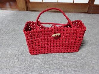 石畳のバッグ(赤)の画像