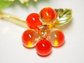 つぶつぶヘアピン オレンジの画像