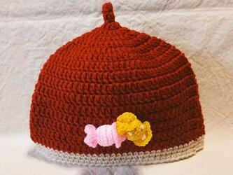 秋色*どんぐり帽子*子ども用 redの画像
