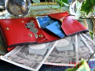 イタリアンオイルレザーアリゾナ・コンパクト2つ折り財布(マルボロ)の画像