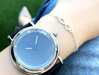 *発光針*クールシンプル腕時計 ブラック <o-001>の画像