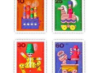 ドイツシリーズ切手(木のおもちゃ)Germany DA-STE082の画像