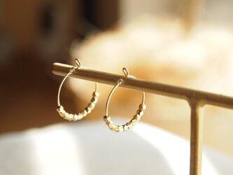 14kgf Hoop Earrings Metal Beadsの画像