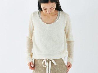 enrica mohair&silk knit / natural (offwhite)の画像