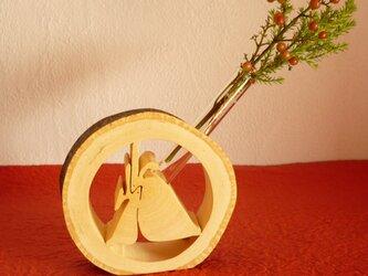 月うさぎの一輪挿し ~みかんの木のクラフトシリーズ~の画像