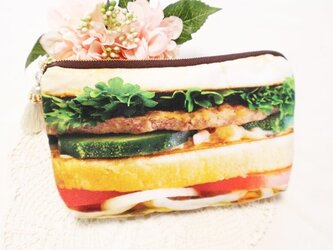 ハンバーガーポーチ★タッセルMIX★ギフトにも♪の画像