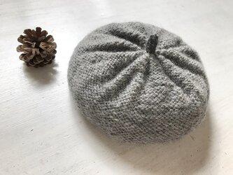 ニットベレー帽[グレー]の画像