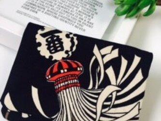オトナのティッシュケース 火消しまとい柄 帆布の画像