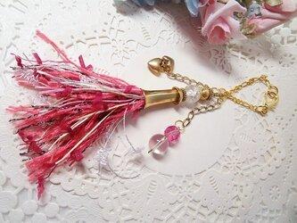 J♪花hana花♪染糸タッセル♪バッグチャーム♪の画像