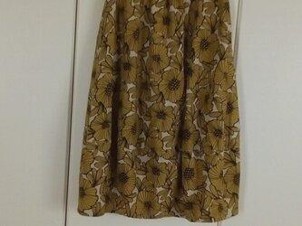 花柄バルーンスカート。の画像