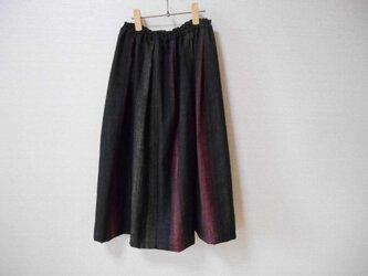 再販★シックでスッキリした紬のスカートの画像