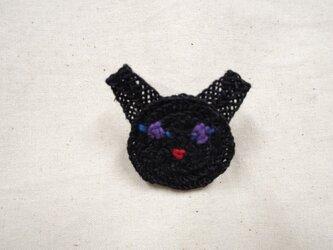 ネコさんバッヂ(黒) 小の画像