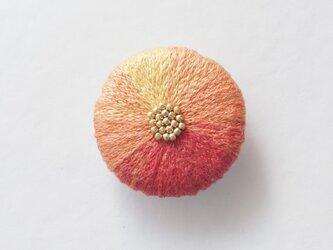 【2/12再出品】菊ブローチ のうぜんかずらの画像