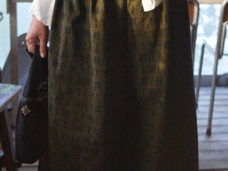 久留米絣綿100袴パンツの画像