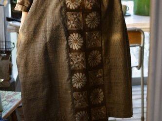 リメイク大島紬の後ろタックワンピースの画像