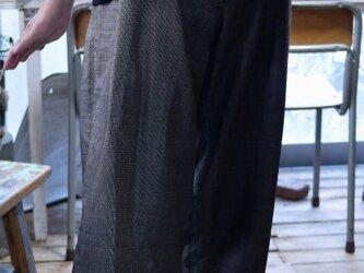 リメイク大島紬のパンツの画像