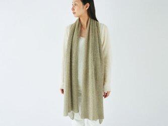 【送料無料】enrica mohair&silk muffler / kahki (botanical dye)の画像
