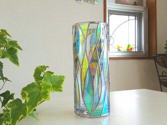 受注:ガラスラウンド型花瓶『光のシャワー』の画像