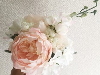 pink×whiteブーケ -Liberty bouquet-の画像