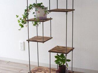 wood iron shelf 700*605*225の画像