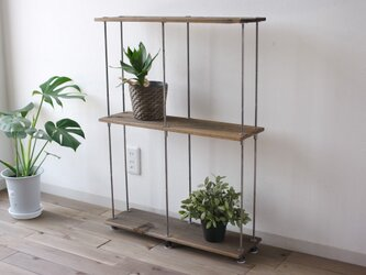 wood iron shelf 810*605*180の画像