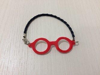 「わたしメガネ好き」アピール用ブレスレットレッドカラーの画像