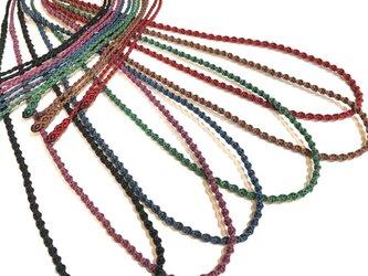全63色・マクラメ編みネックレス紐【スパイラル】受注生産で受付中!の画像