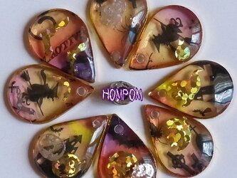HAPPY HALLOWEEN ピアス ④コウモリ ホムポムの画像