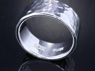 指輪 メンズ : 丸鎚目リング 10mm幅 10~27号の画像
