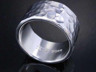 指輪 メンズ : 丸鎚目リング 12mm幅 10~27号の画像