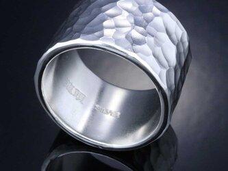 指輪 メンズ : 丸鎚目リング 15mm幅 20~30号の画像