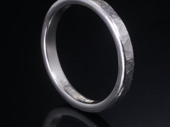 指輪 メンズ : 岩石丸鎚目リング 3mm幅 4~27号の画像