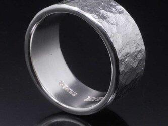 指輪 メンズ : 岩石丸鎚目リング 10mm幅 10~27号の画像