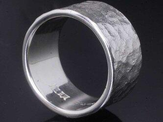 指輪 メンズ : 岩石丸鎚目リング 12mm幅 10~27号の画像