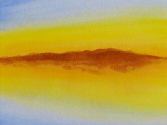 【原画】湖の斜陽(シート販売)の画像