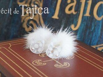白猫しっぽピアスの画像