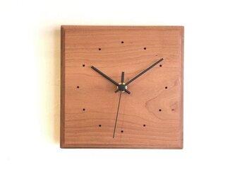 掛け時計 スクエア チェリーの画像