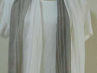 やわらかコットン100%ストール「イカスミ染め」の画像
