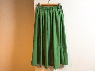 cottonリネンのマキシスカートの画像