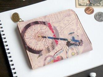 Lウォレット L字ファスナー 財布(レトロ バイク)オールレザー 革  メンズ レディース ILL-1157の画像