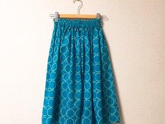 まんまる柄のギャザースカートの画像