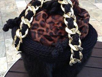 ムートン&バックスキン&毛糸トートバッグの画像