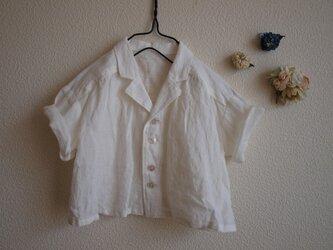 LINEN 開衿シャツ *ホワイト* size 80の画像
