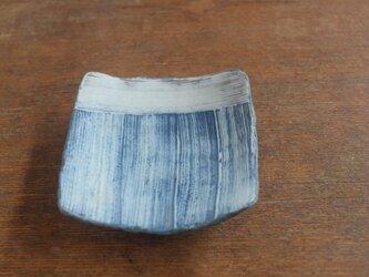 インディゴ 豆角皿 -の画像