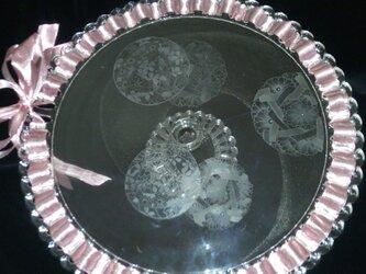 手鞠柄のケーキ台の画像