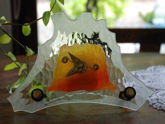 ガラスの富士山時計の画像