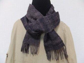 手紬ぎ手織りマフラー #1の画像