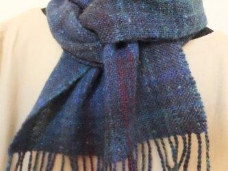 手紬ぎ手織りマフラー #4の画像