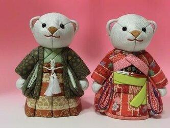 ウエルカムドール(クマの市松人形)の画像