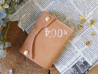 ★姫路レザーオイル仕上げのちっさな三つ折り財布/M004★の画像